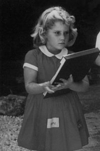 Young Nancy Nemitz Taking notes